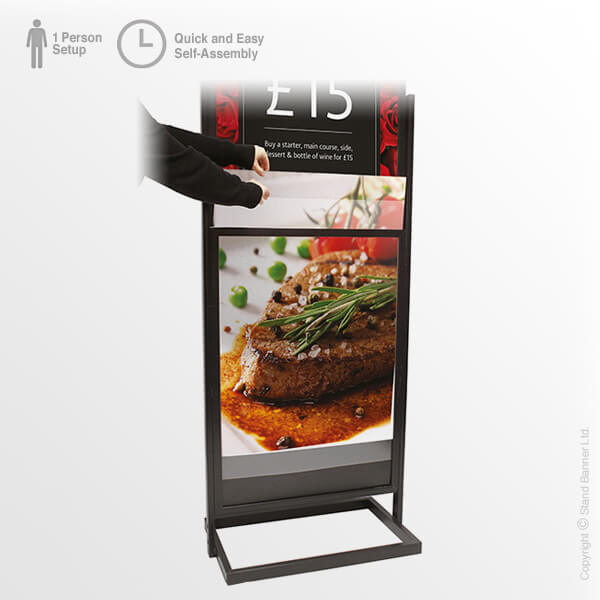 Portable Retail Poster Tower Easy Change Posters