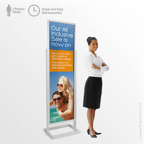 Portable Retail Poster Tower Single