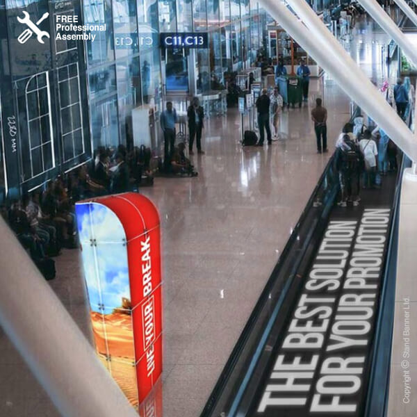 Premium Retail Display Tower Airport Stand