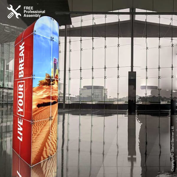 Premium Retail Display Tower Shopping Centre Stand