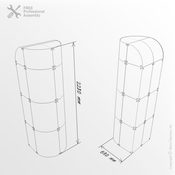 Premium Retail Display Tower Dimensions