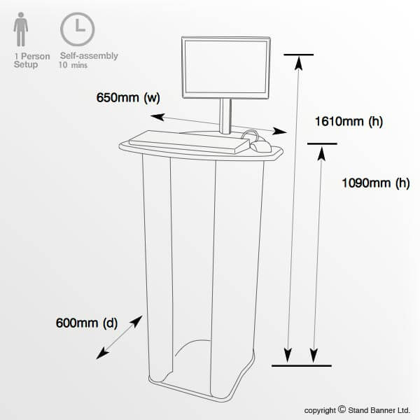 Flat Pack Computer Counter Dimensions