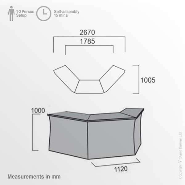 Portable Bar Counter Dimensions