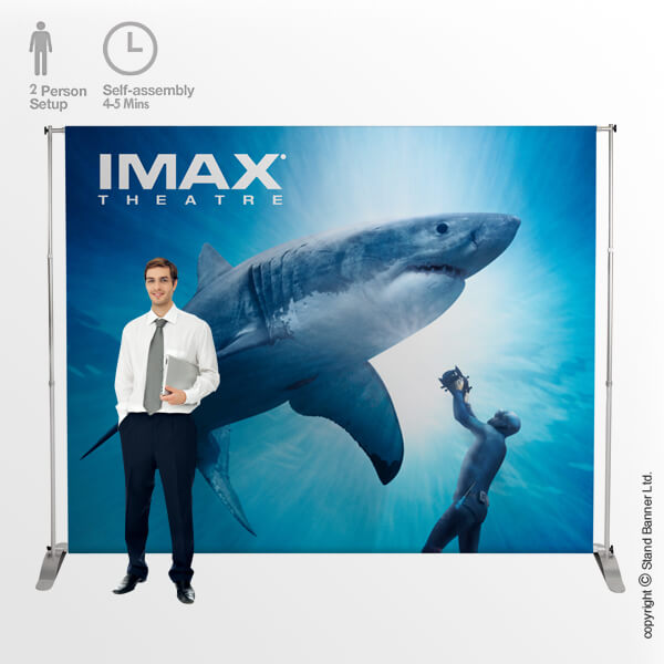 6m Backdrop Banner Stand Single