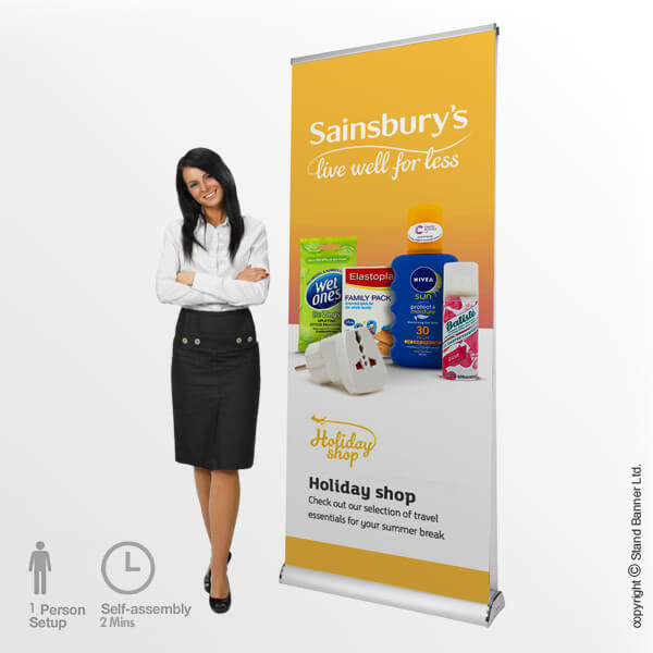 Edge Double Sided Pop Up Banner Stand