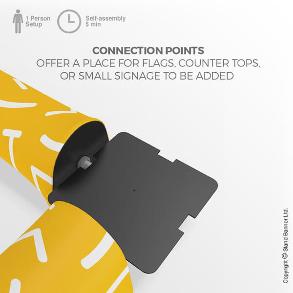 Printed Portable Seating Connection Points