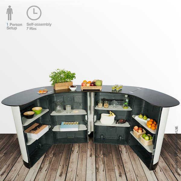 Folding Product Display Counter Rear
