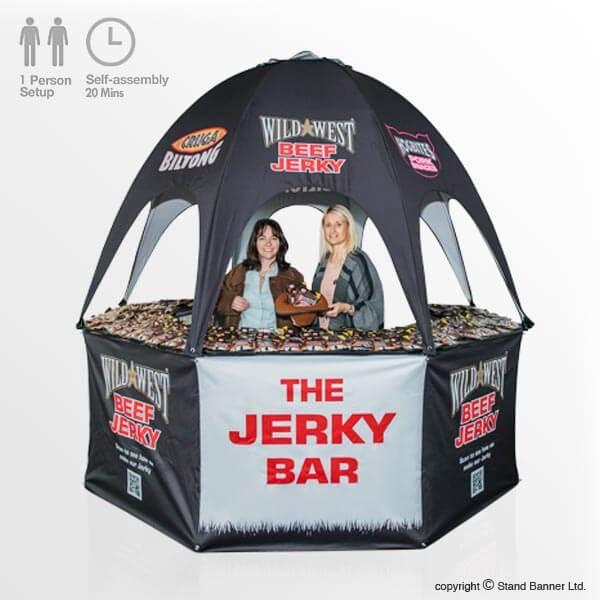 Portable Branded Pop Up Sales Marketing Food Bar & Portable Pop Up Bar Vending Kiosk Promotional Sales Tent