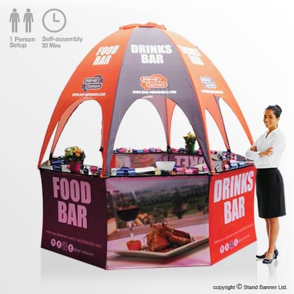 Sungard Exhibition Stand Here Alone : Portable pop up bar vending kiosk promotional sales tent