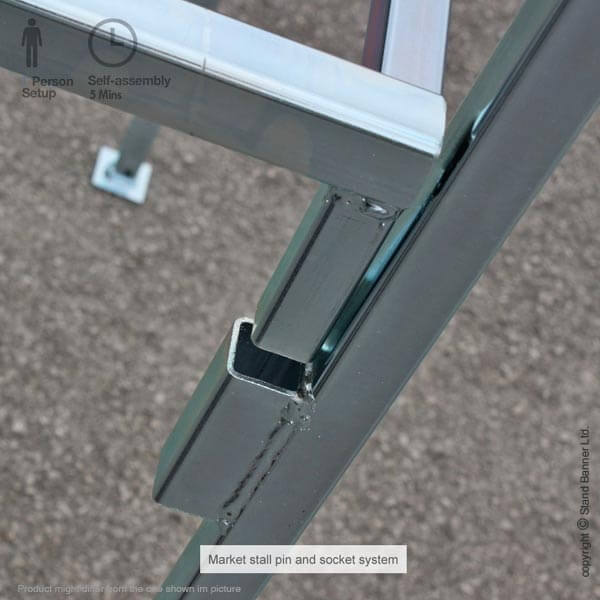 Marketing Stall Locking Mechanism