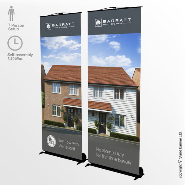 Trade Show Banner Stand System 2 Panel
