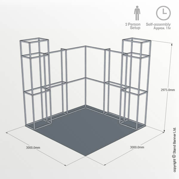 Exhibition Stall Height : M exhibition stand trade show booth