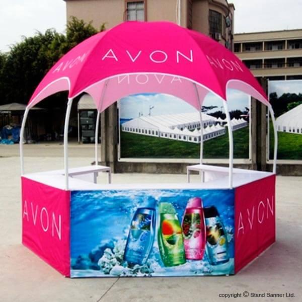 Portable Canopy Vendor Buisness : Portable tent kiosk vending sales advertising gazebo