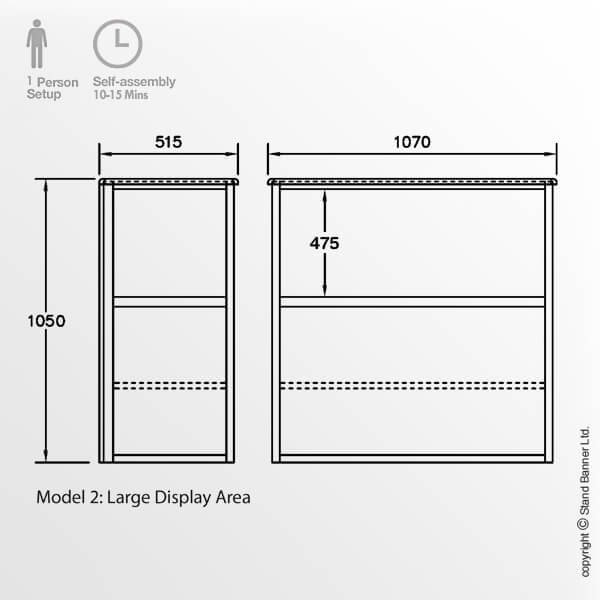 Exhibition Display Case Dimensions Model 2