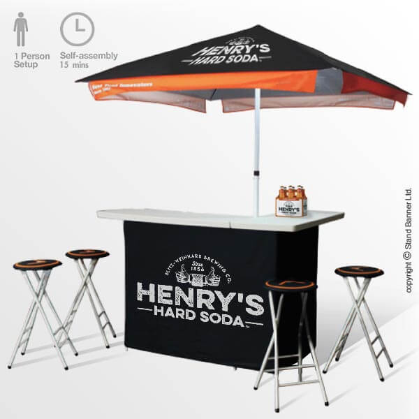 25 Mini Home Bar And Portable Bar Designs Offering: Portable Branded Bar, Printed Promotions Event Counter