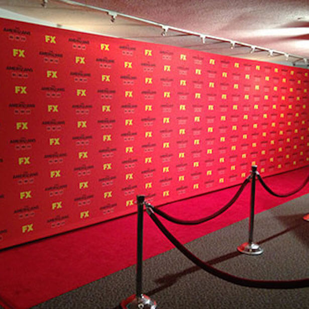 Red Carpet Banner Backdrop Event Stand