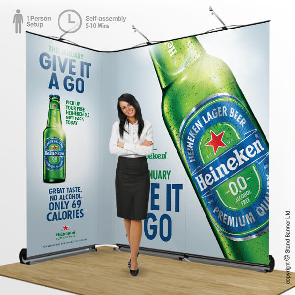 Trade Show Banner System Linked