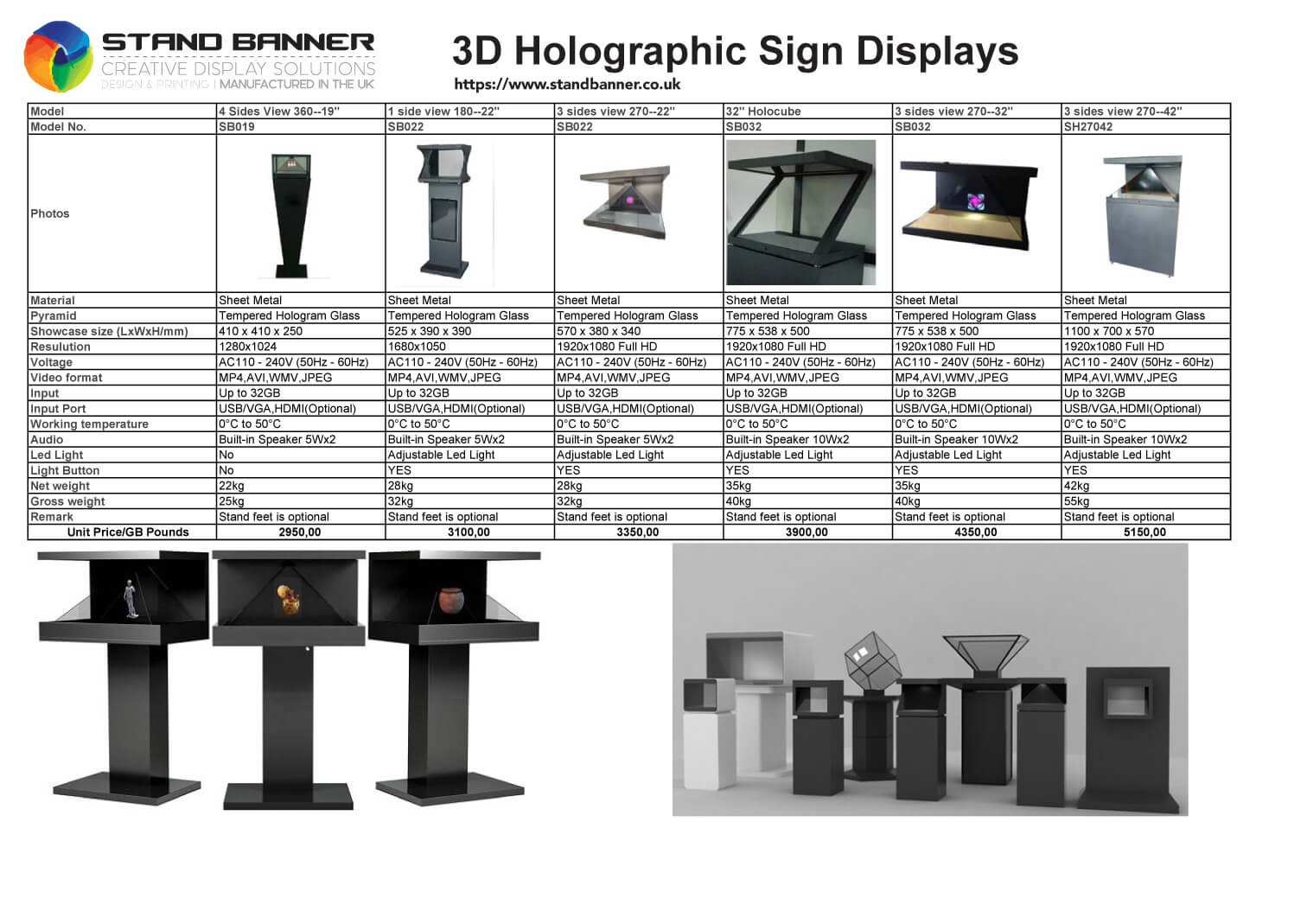 3d Hologram Price List