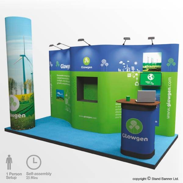 Exhibition Display Pop Up Stand 4m x 3m