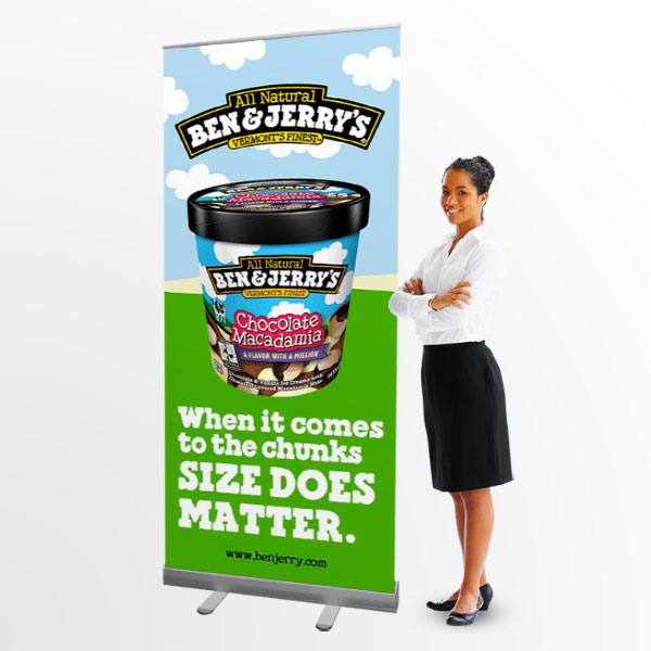 pull up banner stands 85cm wide