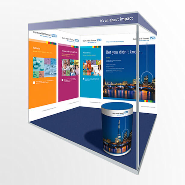 Simple Exhibition Stand Here Alone : Trade show graphics printing exhibition