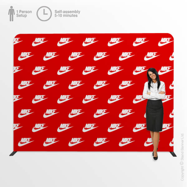 Red Carpet Backdrop Straight Display