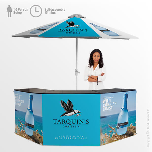 Portable Bar with Parasol