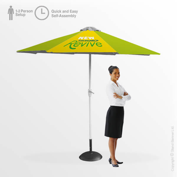 Outdoor Custom-Printed Parasol