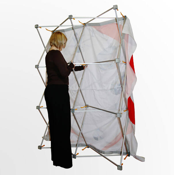 Fabric pop up stand