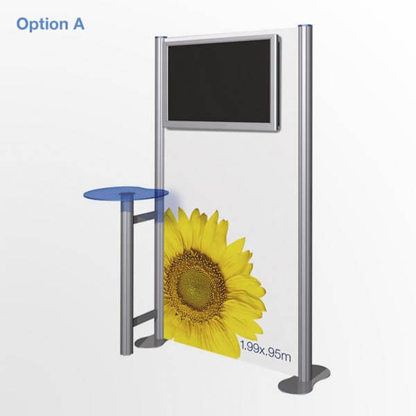 Portable Exhibition Stands Uk : Tv display stand portable lcd system with printed graphics