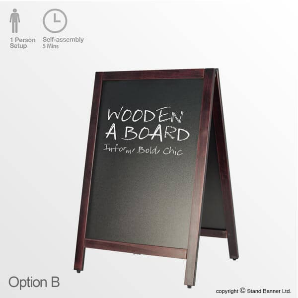 Option B - Chalkboard Sign