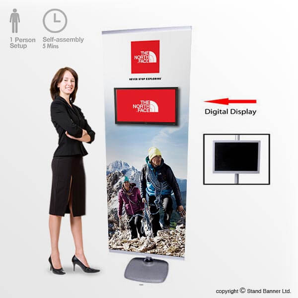 LCD Display Banner Stand