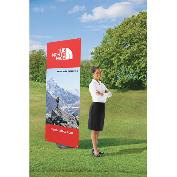 Outdoor Banner Stand in Situe