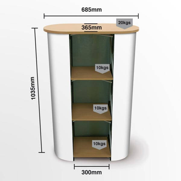 Mini Pop Up Counter Dimensions