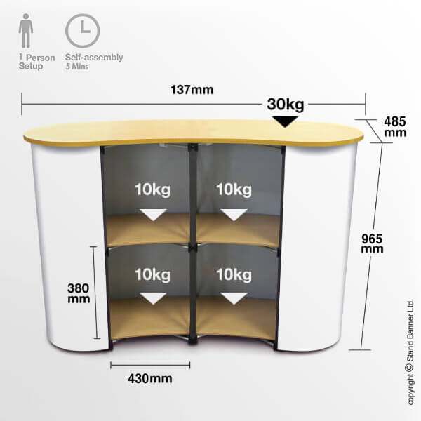 Pop Up Counter Dimensions