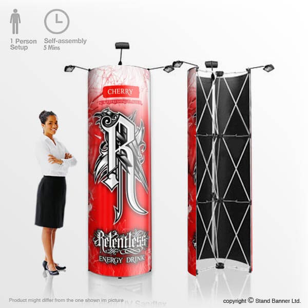 Marketing Exhibition Stand Goals : Pop up marketing display tower portable advertising stand