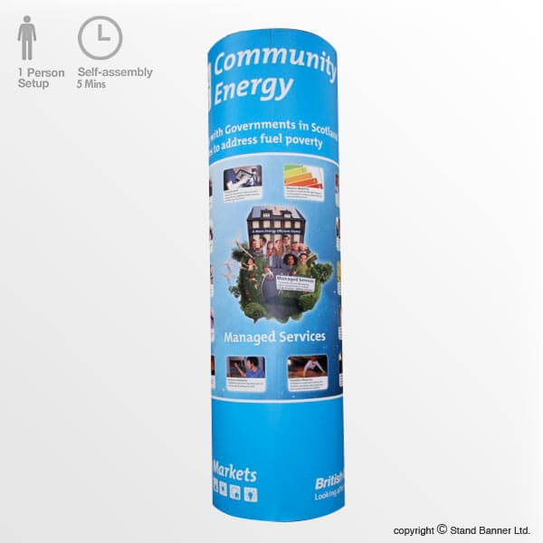 Portable Pop Up Stand Display Tower