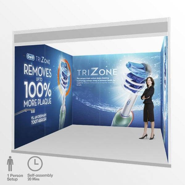 Simple Exhibition Stand Here Alone : Exhibition graphics trade show shell scheme stand printing