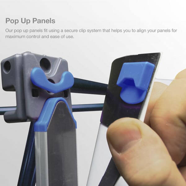 Pop Up Stand Clips