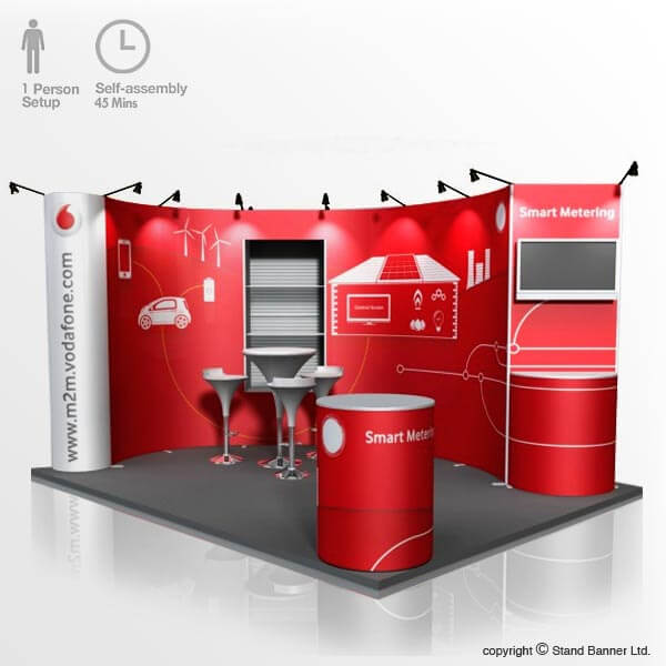 Corner Exhibition Stands Wa : Flexible pop up stand portable custom size exhibition