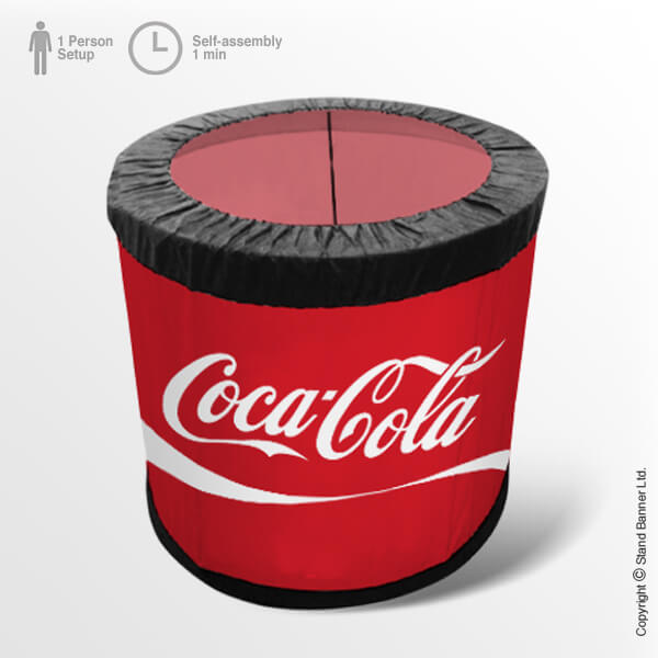 Branded Fabric Container Bin Round