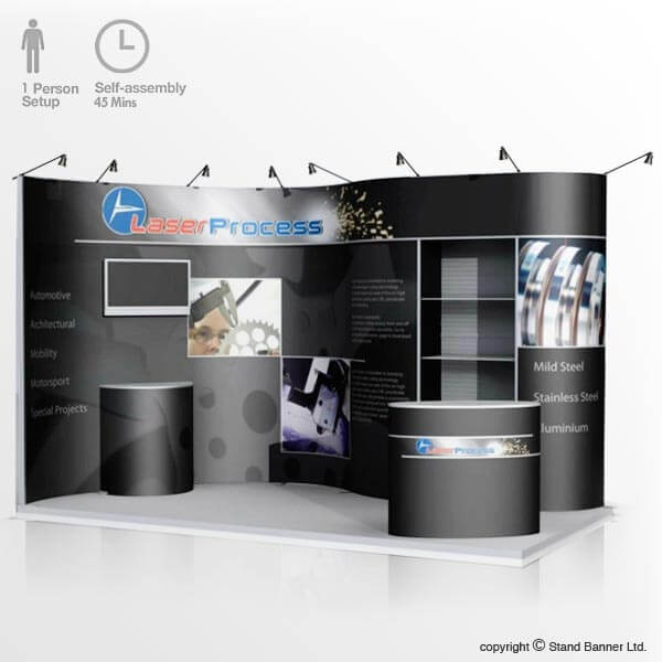 4m x 2m Flexible Pop Up Display Stand