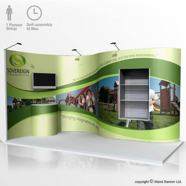 Flexible Exhibition Stands : Flexible pop up stand portable custom size exhibition stand