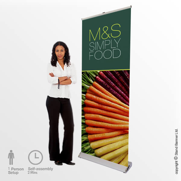 Delta Roller Banner Stand Display