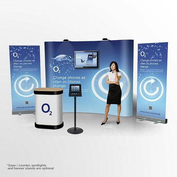 3x3 Pop Up Display Curved