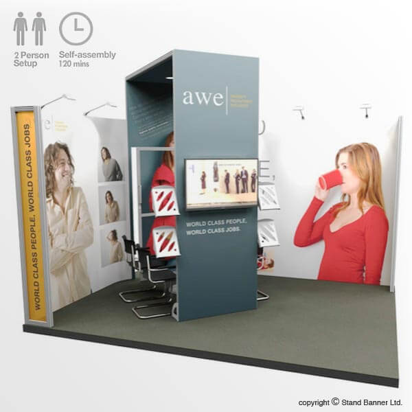 Trade Event Stands : Trade fair display stand m exhibition system