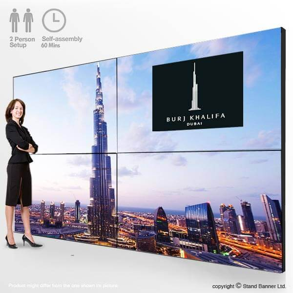 Portable Exhibition Stands Dubai : Video wall screen display portable event advertising stand